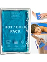 MSD - Gel frío/calor, 20 x 30cm, doble uso, bolsa con hielo o agua caliente