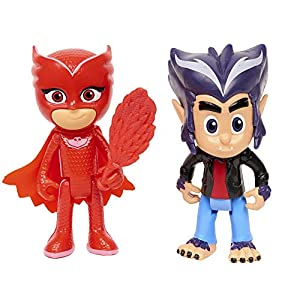 PJ Masks - Pack de 2 figuras Buhíta y Wolfie Howler (Bandai 95265)