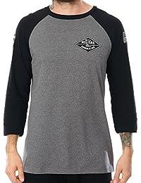 Camiseta con mangas raglan Metal Mulisha Shop Charcoal Heather