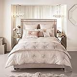 Kylie Minogue at Home Vanetti Bettwäsche, Blush/Nude, luxuriöse Designer-Bettwäsche, Doppelbettbezug