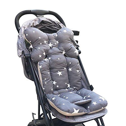 Souarts Universal Kinderwagen Sitzauflage Baumwolle Wasserdichte atmungsaktiv Sitzeinlage für Baby Kinderwagen Buggy 35x78 cm