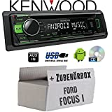 Ford Focus 1 - Kenwood KDC-110UG - CD/MP3/USB Android-Steuerung - Autoradio - Einbauset