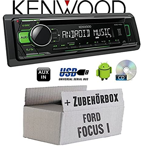 Ford Focus 1 - Kenwood KDC-110UG - CD/MP3/USB Android-Steuerung - Autoradio - Einbauset