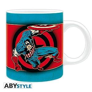 ABYstyle abymug324Marvel Taza Media Capitán América Vintage