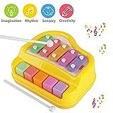 PROACC 2 in 1 Piano Xylophon für Kinder, Musical Toy Boy Girl Kleinkind Pädagogische Musik Spielzeug Bright Multi-Colored Tasten und Musikkarte für Kinder Frühe Pädagogische Spiele