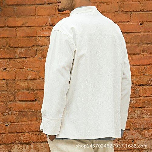 Honghu Pankou Main Chemise Casual Homme Blanc