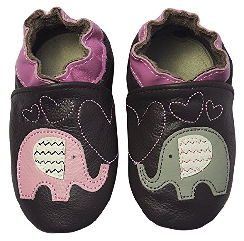 Rose & Chocolat Chaussures Bébé Elephant Kiss Marron