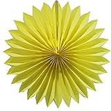 SUNBEAUTY 35 cm Paquete de 10 piezas Papel abanico decoración colgante para boda cumpleaños fiesta festival Santa semana San Valentines (amarillo)