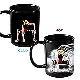 YiaMia Tasses réagissant à la chaleur Motif Dragon Ball Z En céramique Change de couleur avec la chaleur Pour lait et café 300ml
