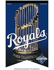 Wincraft Tapis Motif Royals de Kansas City 2015World Series Champions de feutre MLB bannière