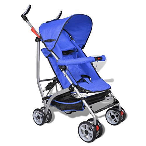 Contemporary Baby Toddler Travel Baby Buggy Infant Home Cycling 5-Position Blue