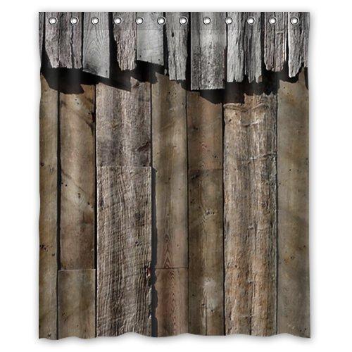 CHATAE 60(W) X72(H) Zoll Wasserdicht Badezimmer Rustikal Old Barn Holz Vorhang für die Dusche