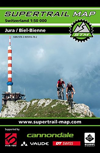 Supertrail Map Jura / Biel-Bienne: Maßstab 1:50.000