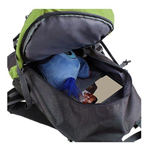 FAIRY COUPLE Sport geeigneit Stil Unisex Tasche Daypacks Schultertasche Rucksack Multifunktion C5256 (blau) gelb