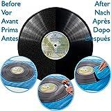 Vinyl Record Cleaner Kit von Vinyl Clear. 250 ml Premium Qualität Record Reinigungsflüssigkeit, versenkbarer Ständer, zwei microcloths & Anleitung.