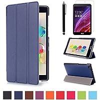 Asus ZenPad C 7.0 Z170C Custodia,Blu scuro Slim Smart Cover Protettiva Custodia in Pelle per Asus ZenPad C 7.0 Z170C/CG/MG Tablet de 7