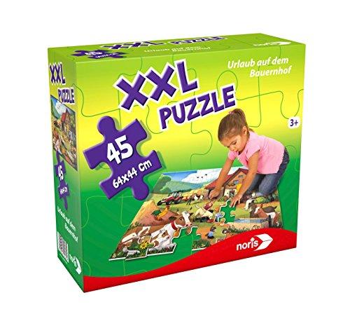 Noris Spiele 606031565 - XXL Puzzle Urlaub auf dem Bauernhof Kinder Spiele Puzzles