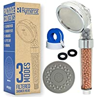 Ionic Shower Head Handheld Replacement - 3 Modes 3way Function - Adjustable Filter Bead Hard Water Boost Water Pressure, Water Saving Eco
