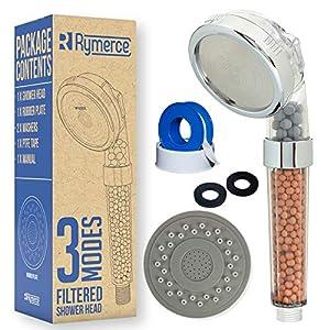 Rymerce – Alcachofa de ducha iónica filtrante con 3 modos de funcionamiento, presión 200% más de elevación y 30% de…