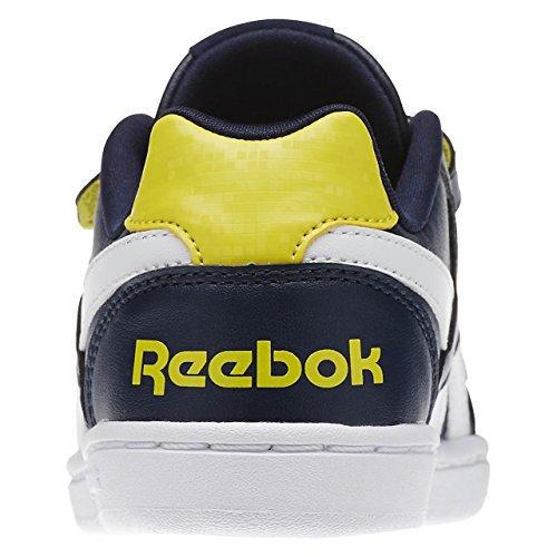 Reebok - Royal Prime  Alt, Scarpine primi passi Unisex – Bimbi 0-24 Blu / Giallo / Bianco (Navy/Yellow Spark/White)