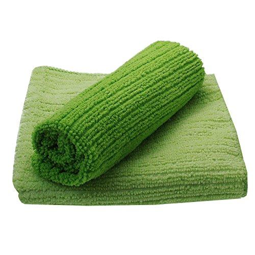 Juego de 2diseño microfibra bayetas verde. Paño Microfibra Set 80364de paños secos, para limpieza de paños secos. Nacido., lavable
