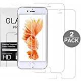 """Cristal Templado iPhone 6 Plus 6s Plus, TYJTECH 2-Pack Vidrio Templado Protector de Pantalla de Cristal Templado Superior de Película Empaquetado al por Menor para iPhone 6 Plus y iPhone 6s Plus 5.5"""""""