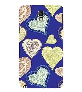 FIOBS blue floral designer love Designer Back Case Cover for Samsung Galaxy Note 3 :: Samsung Galaxy Note Iii :: Samsung Galaxy Note 3 N9002 :: Samsung Galaxy Note 3 N9000 N9005