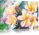 Monoï fleurs exotiques Format: 100x70 sur toile, énorme XXL Photos complètement encadrée avec civière, art impression sur murale avec cadre, moins cher que la peinture ou la peinture à l'huile, aucune affiche ou un poster