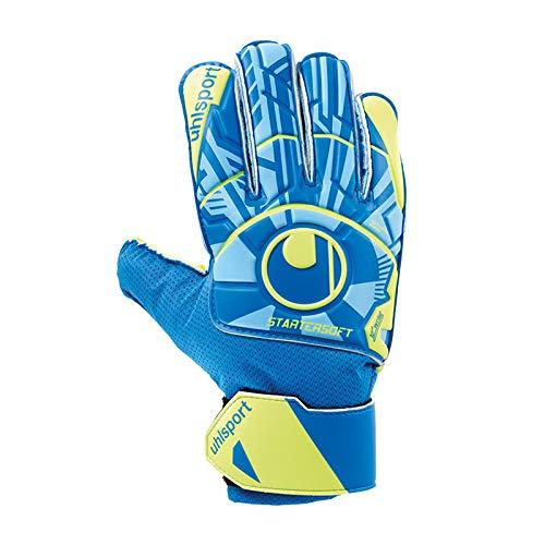 uhlsport Unisex- Erwachsene Radar Control Starter Soft Torwarthandschuhe, Fußballhandschuhe, blau/Fluo gelb/schw, 4.5