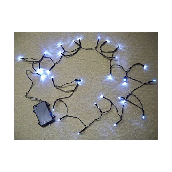2 Sets of 30 LED Bright White WATERPROOF Outdoor Battery Operated Lights with TIMER 8 Multi-Function 3M String Length, party christmas fairy wedding birthday by Best Artificial (TM) 51xyeY1EavL