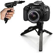 igadgitz 2 en 1 Mano Estabilizador Mini Ligera Trípode de Mesa para Canon FD- Mount SLR A Series Cámaras AE-1, AT-1, A-1, AV-1, AE-1 Program, AL-1