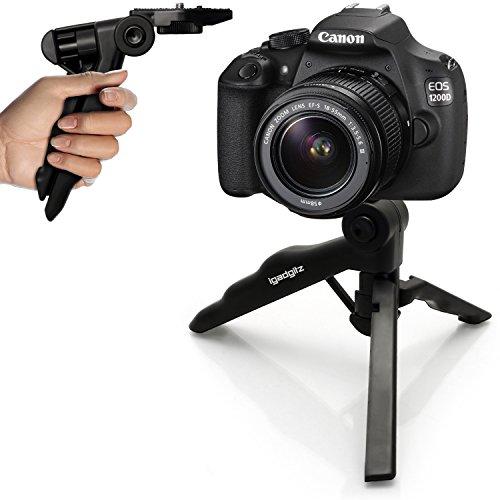 igadgitz 2-in-1 Pistolengriff Stabilisator Kompaktes Mini-Tischstativ für Canon EOS SLR DSLR Series Cameras 450D 550D 550D 600D 650D 700D 750D 760D 100D 1000D 1100D 1200D