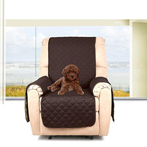 KINLO 1-posto (177*56CM) Copripoltrona Double-sided Copridivano per gli animali domestici impermeabile Anti-graffio, antifouling, protezione divano - Cioccolato/Beige
