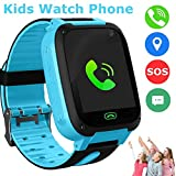 Kids Smart Watch Phone, LBS/GPS Tracker Smart Watch for 3-12 Year Old Boys Girls with SOS Camera Sim Card Slot Touch Screen Game Smartwatch Outdoor Activities CM© toys Birthday Gift (Blue)