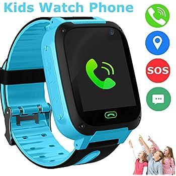 bhdlovely Reloj para Niños Smartwatch LBS/GPS Tracker para Niño y Niña Juego de Pantalla Táctil Smartwatch Actividades al Aire Libre Juguetes Regalos ...