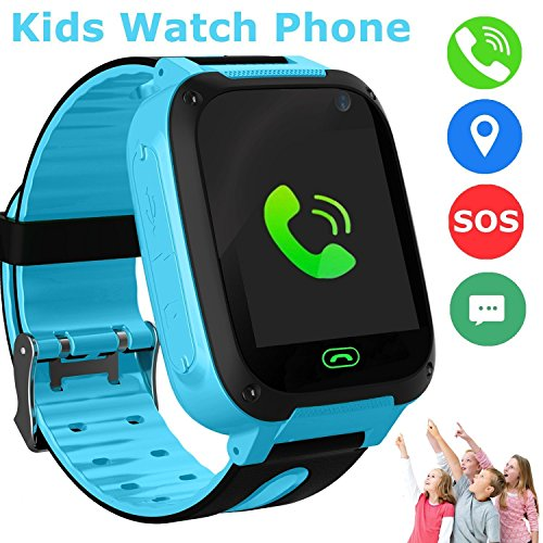 Coupon Matrix - Kids Smart Watch Phone, LBS/GPS Tracker Smart Watch for 3-12 Year Old Boys Girls with SOS Camera Sim Card Slot Touch Screen Game Smartwatch Outdoor Activities CM© toys Birthday Gift (Blue)