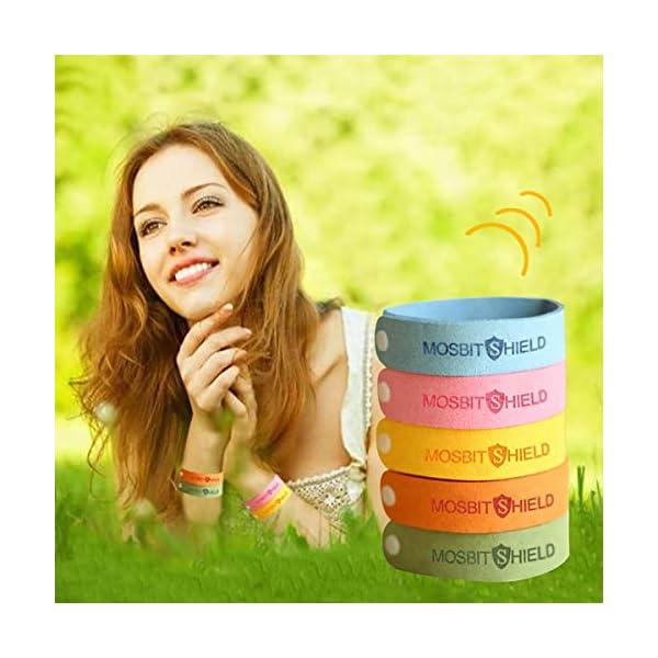 DREAMWIN Pulsera Repelente de Mosquitos, 15pcs Pulseras Antimosquitos, Actividades al Aire Libre y Bandas para Hacer Deportes, Materias Naturales, Ajustables para Adultos y Niños 3