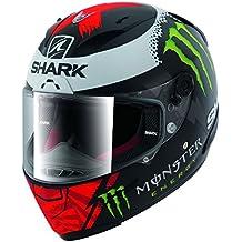 Tiburón race-R Pro Lorenzo de carbono tiburón blanco edición limitada casco de moto, Silver White Green