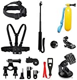 Beeway® Universal Pack 6 in 1 Accessories Kit Mount for GoPro Hero 1 2 3 3+ 4 Session SONY Xiaomi Yi SJCAM SJ4000 Apeman VicTsing DBPOWER WiMiUS Action Camera