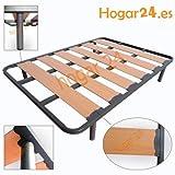 Hogar24 Somieres Lama Ancha Reforzada con Tacos Anti-Ruido y Patas cilíndricas, Tubo 40x30. Fabricación...
