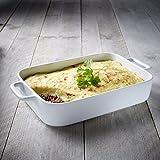 Tivoli Auflaufform / Hochwertiges Porzellan / Ø 33 cm / Geeignet für Mikrowelle, Ofen, Gefrierer und Spülmaschine / Ergonomische Griffe