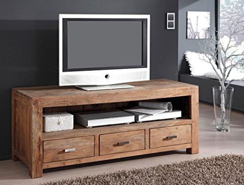 Lowboard Bihar Akazie Massiv Stone Tv Möbel Tv Schrank Wohnzimmer