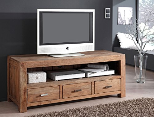 lowboard bihar akazie massiv stone tv m bel tv schrank wohnzimmer tv. Black Bedroom Furniture Sets. Home Design Ideas