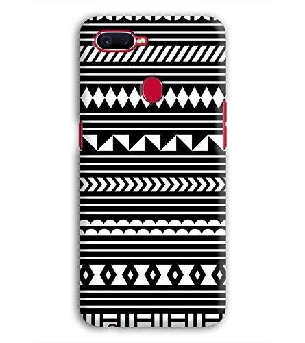 PRINT VISA Zigzag Africa Patterns Design Ethnic Diamonds Designer Printed Hard Back Case for Oppo F9 Pro