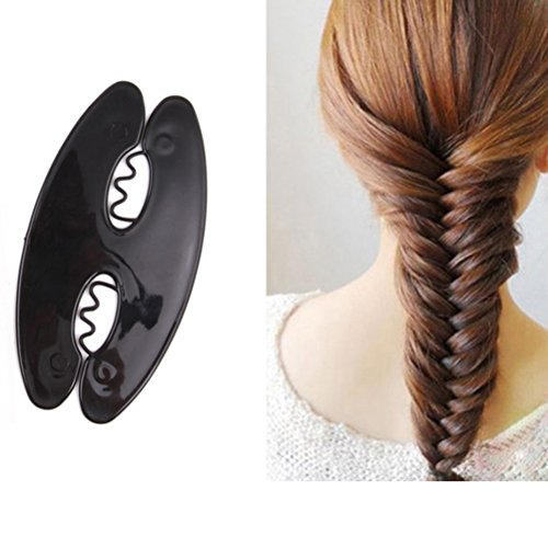 OUNONA Haarflechter Haare Twist-Styling Zubehör Werkzeuge (schwarz)