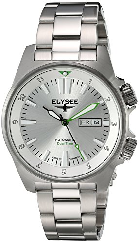 ELYSEE Herren-Armbanduhr 87000 Executive-Edition, silberfarben, analoges Zifferblatt, Automatikuhr