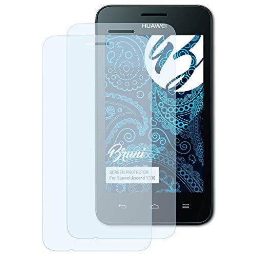 Bruni Schutzfolie kompatibel mit Huawei Ascend Y330 Folie, glasklare Bildschirmschutzfolie (2X)