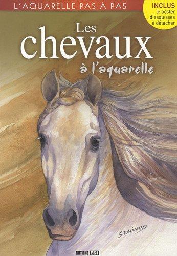 Les chevaux à l'aquarelle