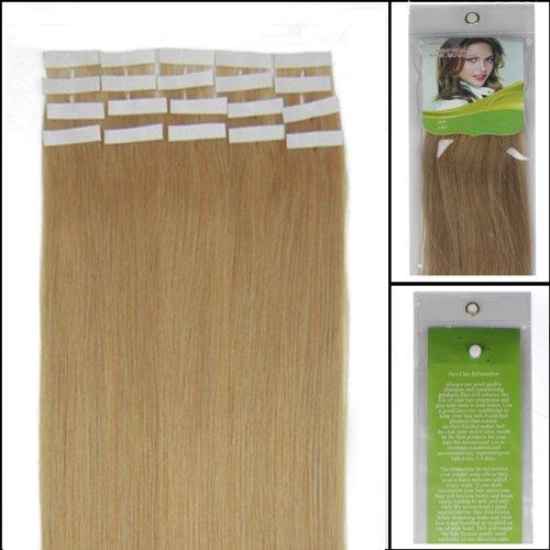 40,6 cm Bandes adhésives Extensions de cheveux humains droite Couleur 27 Blond foncé 30 g 20 pièces Beauté Cheveux Style