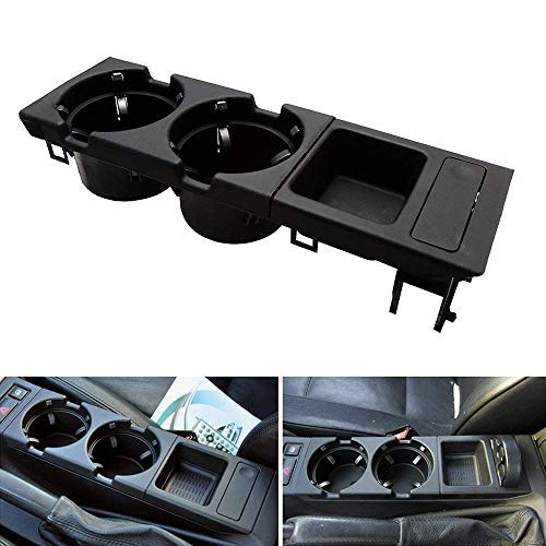 E46 Black Front Centre Console Cup Holder for 3 Series for sale  Delivered anywhere in UK